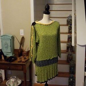 Lynn McNulty Handmade Knit Sweater Wearable Art